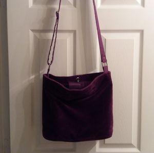 Purple velour purse